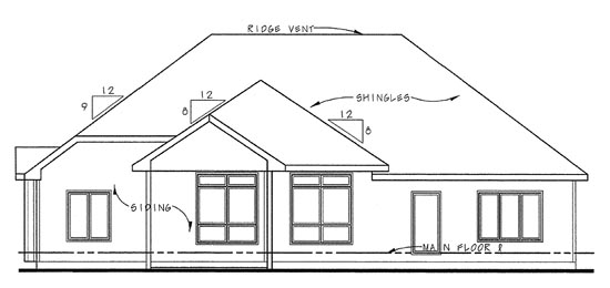 Traditional House Plan 66656 Rear Elevation