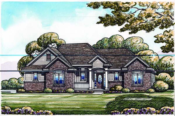 Traditional House Plan 66666 Elevation