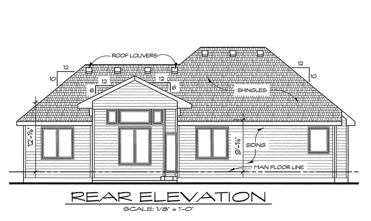 Traditional House Plan 66666 Rear Elevation