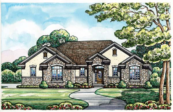 Traditional House Plan 66667 Elevation