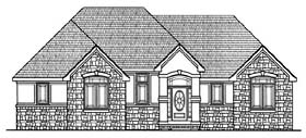 Traditional House Plan 66668 with 3 Beds, 2 Baths, 2 Car Garage Elevation