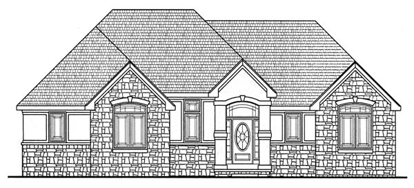 Traditional House Plan 66668 with 3 Beds, 2 Baths, 2 Car Garage Front Elevation