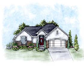 Traditional House Plan 66673 Elevation