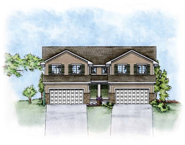 Multi family plan 66676 at for Multi family modular homes prices