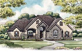 Country European House Plan 66682 Elevation