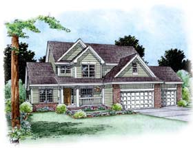 Traditional House Plan 66684 Elevation