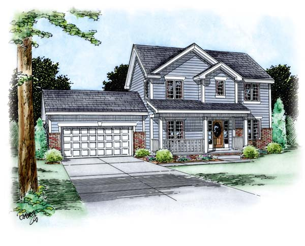 Traditional House Plan 66691 Elevation