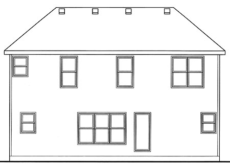 Traditional House Plan 66692 Rear Elevation