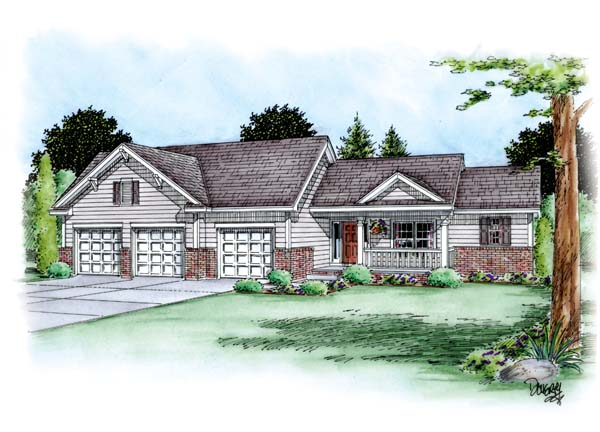 Traditional House Plan 66694 Elevation
