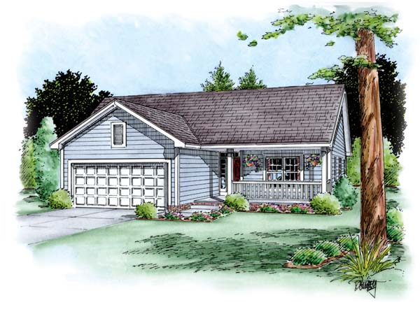 Traditional House Plan 66696 Elevation