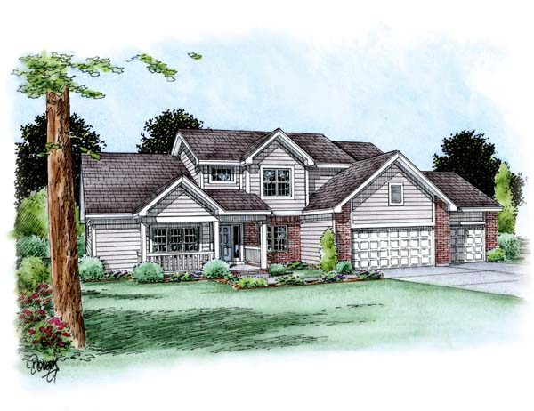 Traditional House Plan 66700 Elevation