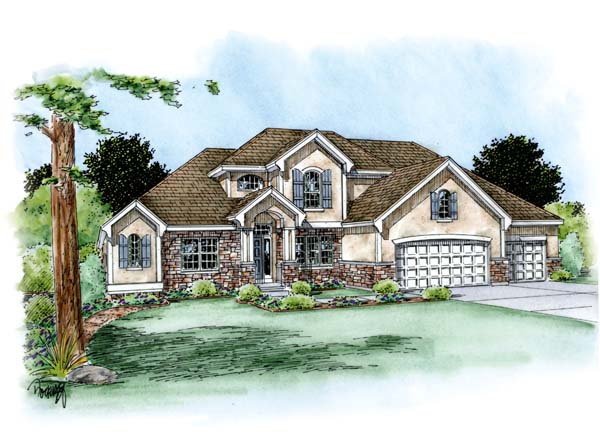 House Plan 66701 | Country European Style Plan with 2772 Sq Ft, 4 Bedrooms, 4 Bathrooms, 3 Car Garage