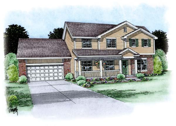 Traditional House Plan 66705 Elevation