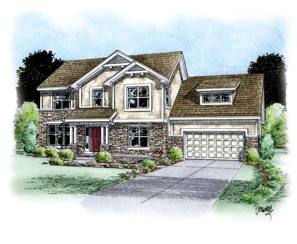 Country European House Plan 66707 Elevation