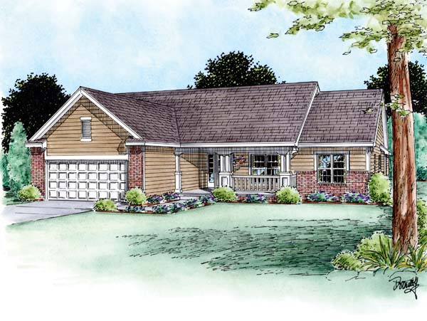Traditional House Plan 66709 Elevation