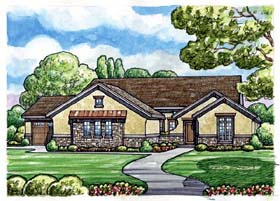 Country European House Plan 66713 Elevation