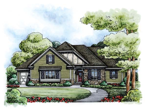 Country European House Plan 66714 Elevation