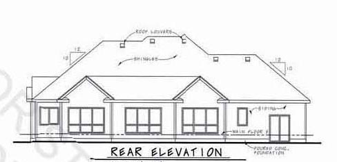Country European House Plan 66714 Rear Elevation