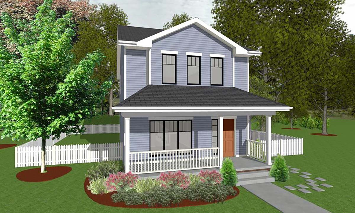 Traditional House Plan 66715 with 3 Beds, 3 Baths Front Elevation