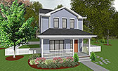 Plan Number 66715 - 1297 Square Feet
