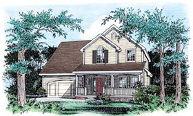 Traditional House Plan 66716 with 3 Beds, 3 Baths, 2 Car Garage Elevation