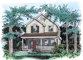 Traditional House Plan 66717 Elevation