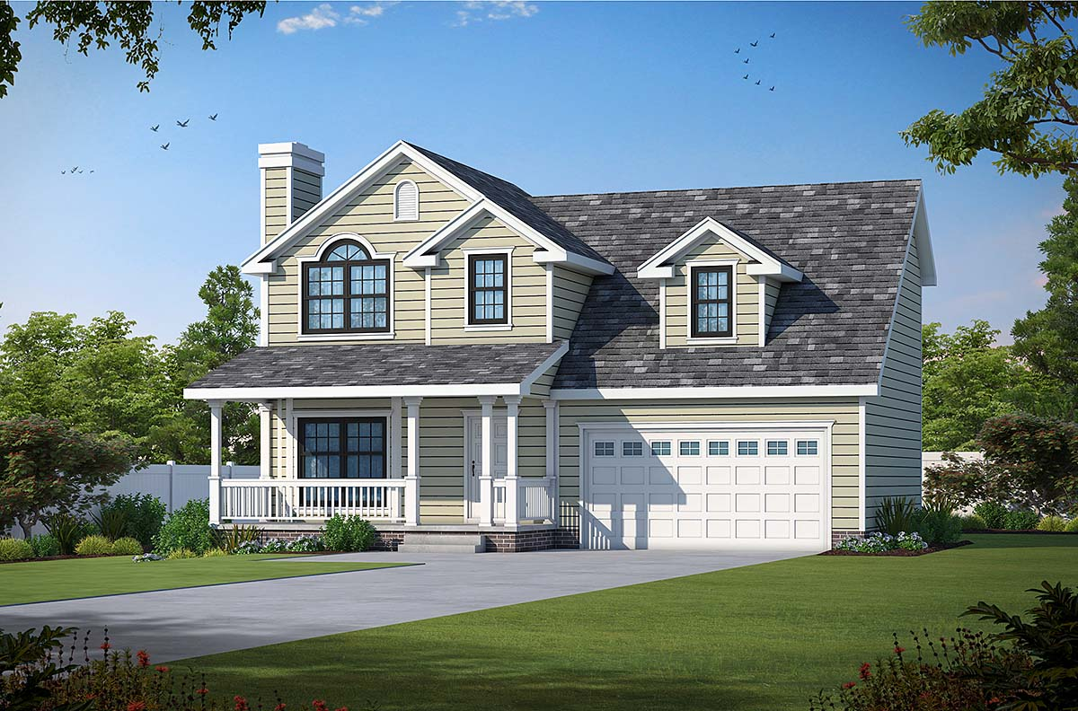 Farmhouse House Plan 66718 with 3 Beds, 3 Baths, 2 Car Garage Elevation