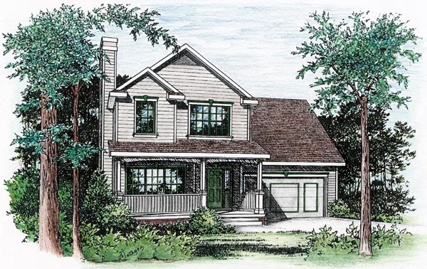 Farmhouse House Plan 66721 Elevation