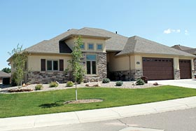 Contemporary , European , Southwest House Plan 66723 with 3 Beds, 2 Baths, 3 Car Garage Elevation