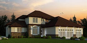 Southwest , European House Plan 66725 with 4 Beds, 4 Baths Elevation