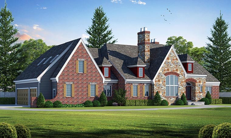 European Tudor House Plan 66726 Elevation