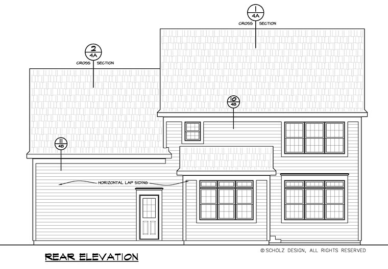 Colonial Country Southern House Plan 66737 Rear Elevation