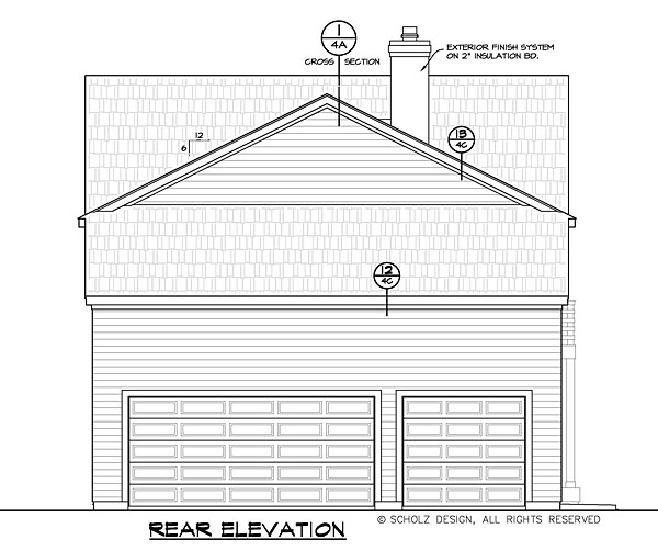 Contemporary Country Southern House Plan 66738 Rear Elevation