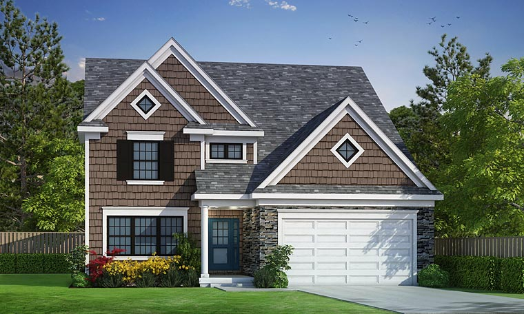 Country Craftsman Traditional Elevation of Plan 66739