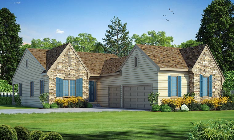 Traditional House Plan 66749 Elevation