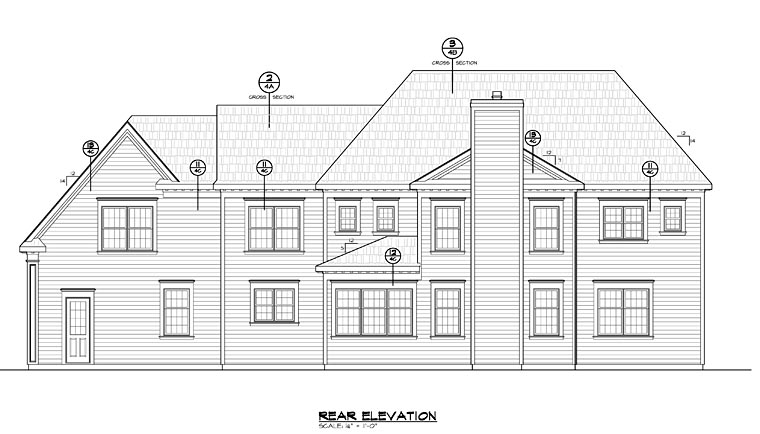 Colonial Southern House Plan 66752 Rear Elevation