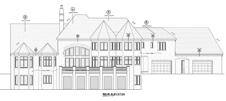 French Country Traditional House Plan 66754 Rear Elevation
