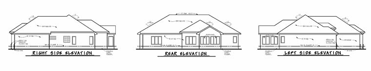 European House Plan 66757 Rear Elevation