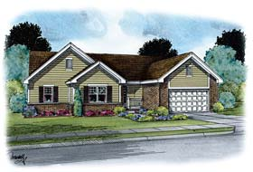 House Plan 66769 | Ranch, Traditional Style House Plan with 2230 Sq Ft, 3 Bed, 3 Bath, 2 Car Garage Elevation