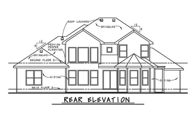 Mediterranean House Plan 66771 Rear Elevation
