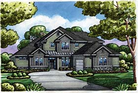 Craftsman Traditional House Plan 66772 Elevation
