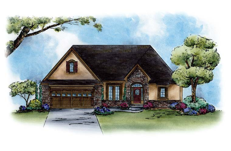Country French Country Traditional House Plan 66774 Elevation