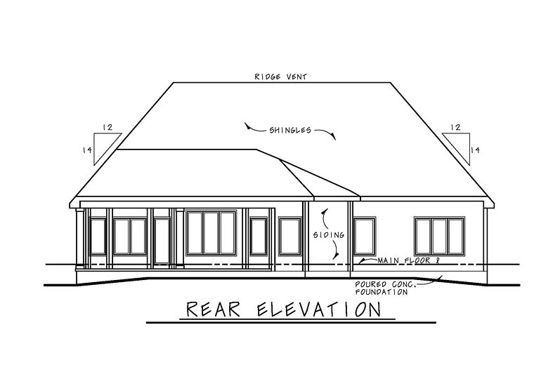 Country French Country Traditional House Plan 66774 Rear Elevation