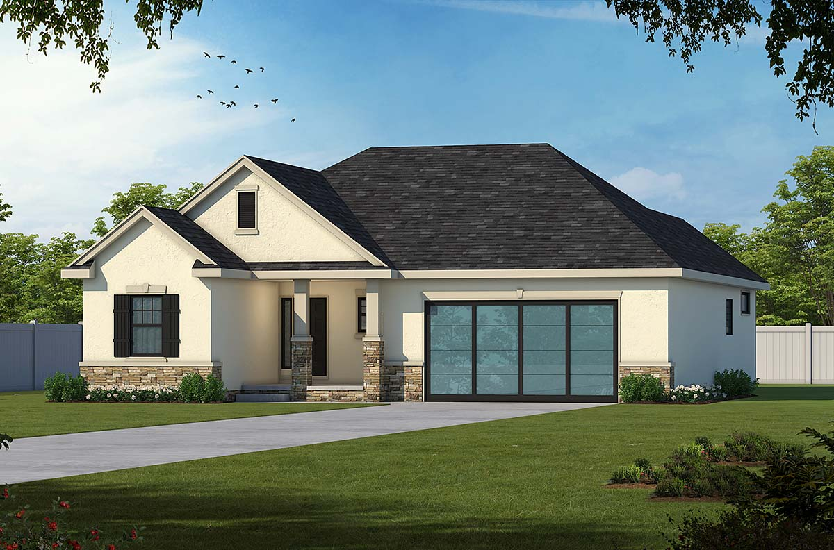 Craftsman European French Country Southern House Plan 66775 Elevation
