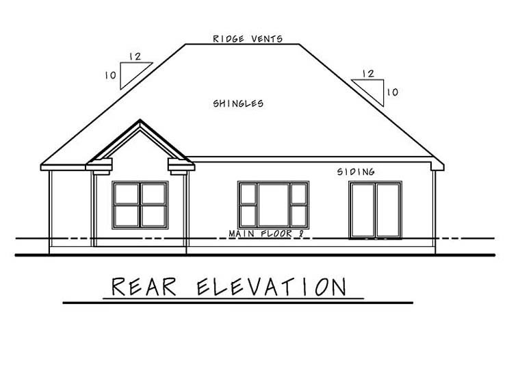 Cottage Country Southern Traditional House Plan 66776 Rear Elevation