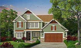 Cottage , Country , Craftsman , Southern , Traditional House Plan 66781 with 3 Beds, 3 Baths, 2 Car Garage Elevation