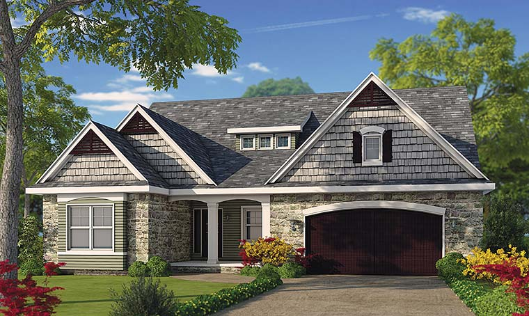 Cottage Country Craftsman Southern Traditional Elevation of Plan 66782
