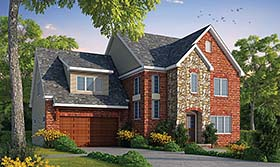 House Plan 66783 | Traditional Style Plan with 2708 Sq Ft, 4 Bedrooms, 4 Bathrooms, 2 Car Garage Elevation