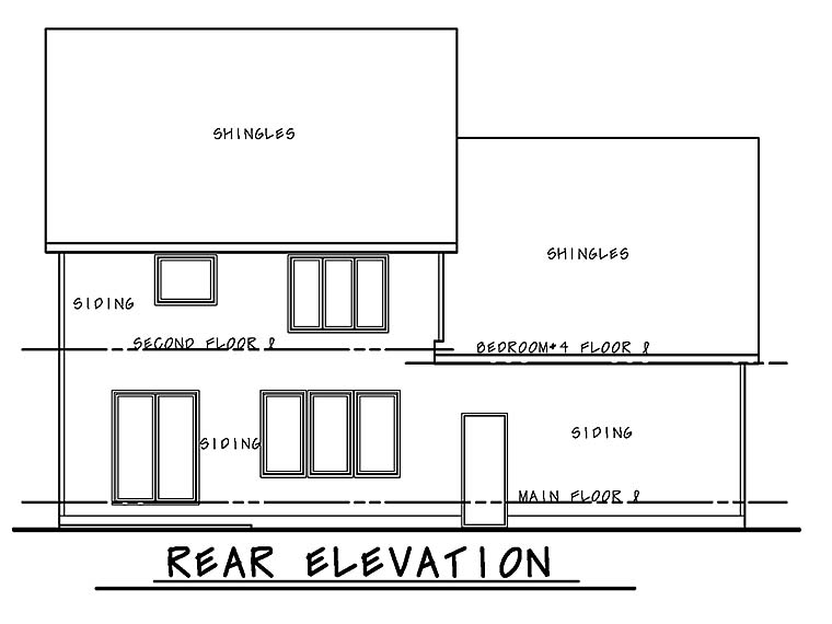 Traditional House Plan 66783 Rear Elevation