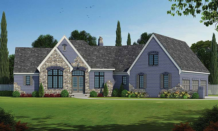 French Country Traditional House Plan 66786 Elevation